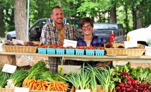 farmer's market display