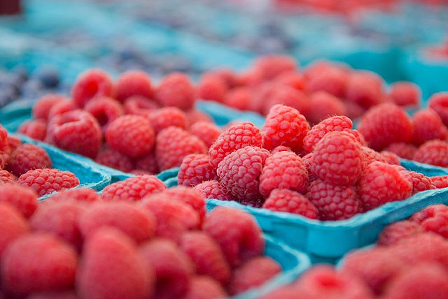 Raspberries at Farmer's Market