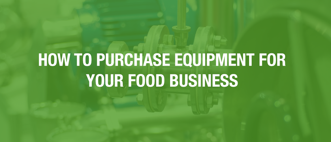 Buying food manufacturing equipment
